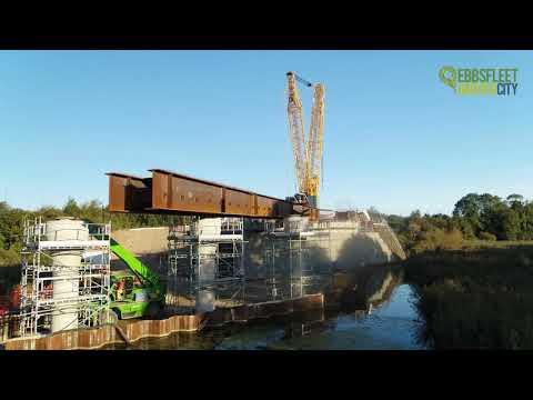 Springhead Bridge beam lift September 2019