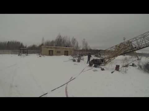 Демонтаж по-русски козлового крана ККС-10