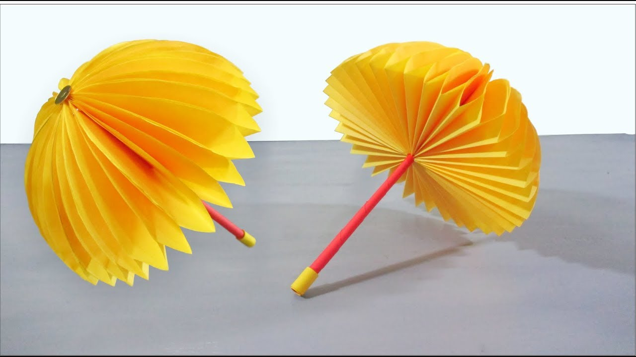 Paper Crafts For Kids Easy   Paper Umbrella Craft Step By Step Tutorial