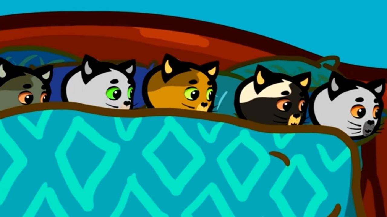 Десять в кроватке — песенки для детей (songs for kids) — Три котенка: считалочки