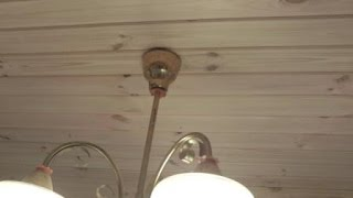 видео Подвесной потолок из вагонки. Часть вторая.