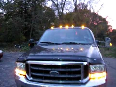 Ford Superduty Led Strobe Cab Lights Youtube
