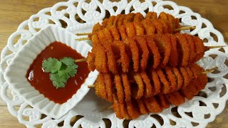 Potato Spring Stick RecipeTornado PotatoSpiral Fried Potatoপটট সপর সটক রসপটরনড আল