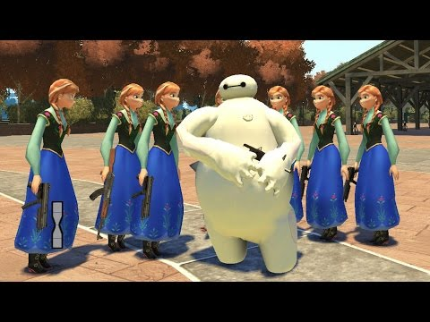 Baymax Big Hero 6 VS Anna Frozen (MOD) HD