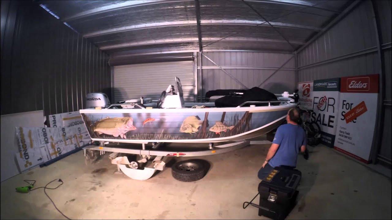 Boat Vinyl Wrap Youtube