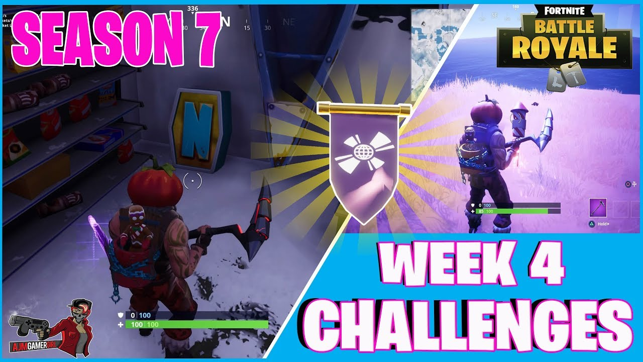 Fortnite Season 7 Week 4 All Letters And Fireworks Locations Youtube