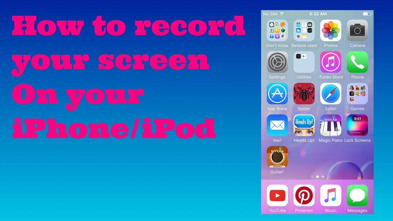how to record iphone screen free how to record your screen on your iphone ipod using shou 7570