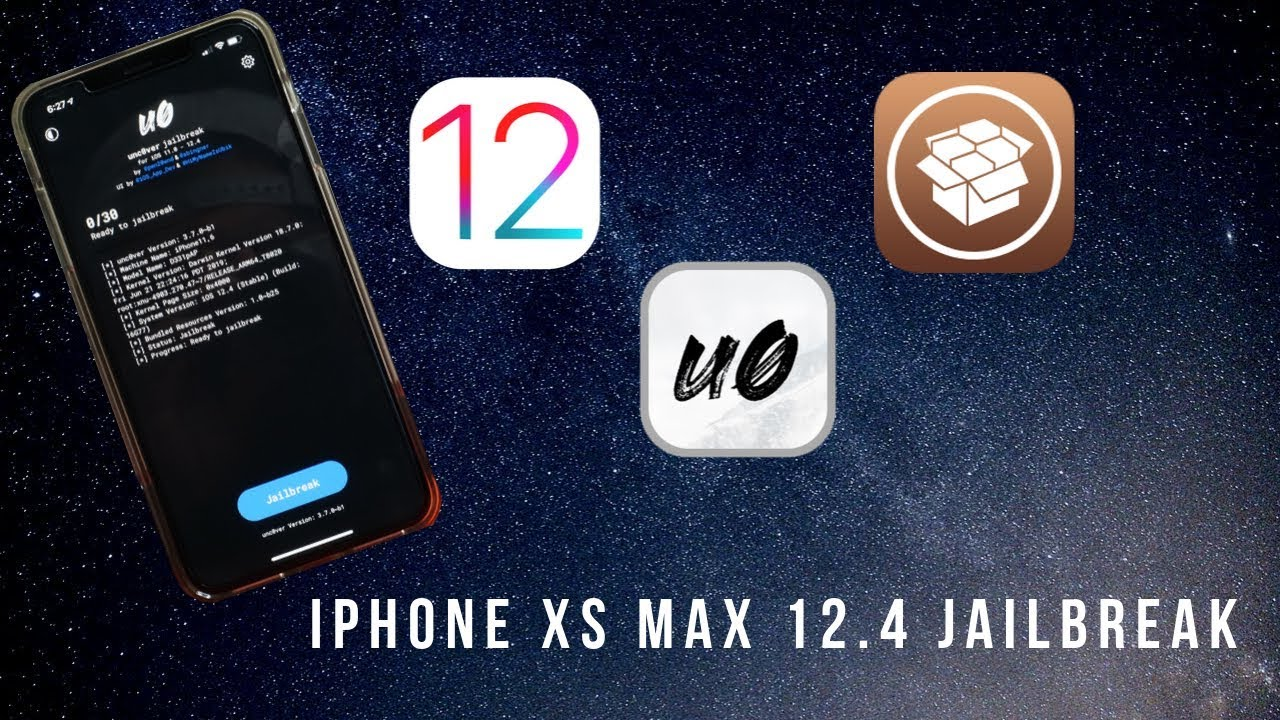 How To Jailbreak Iphone Xs Max 12 4 Unc0ver Dev Youtube
