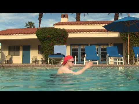 In & Out Burger Guy: One Man Pool Party Palm Springs, California