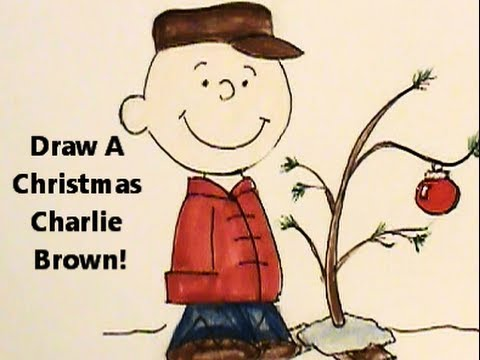 draw a charlie brown christmas his sad little tree youtube