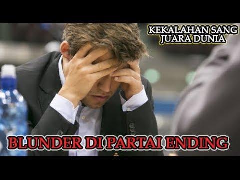 Magnus Carlsen BLUNDER di partai ending melawan Erik Fossan