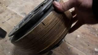 Как приделать приводной шкив к тормозному диску......ленточная пилорама - часть 3