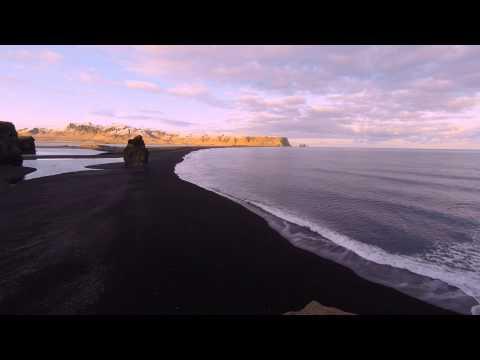 Sunset Time at Dyrholaey Iceland