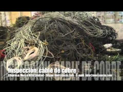 China: Chatarra - Cable de cobre para reciclar.