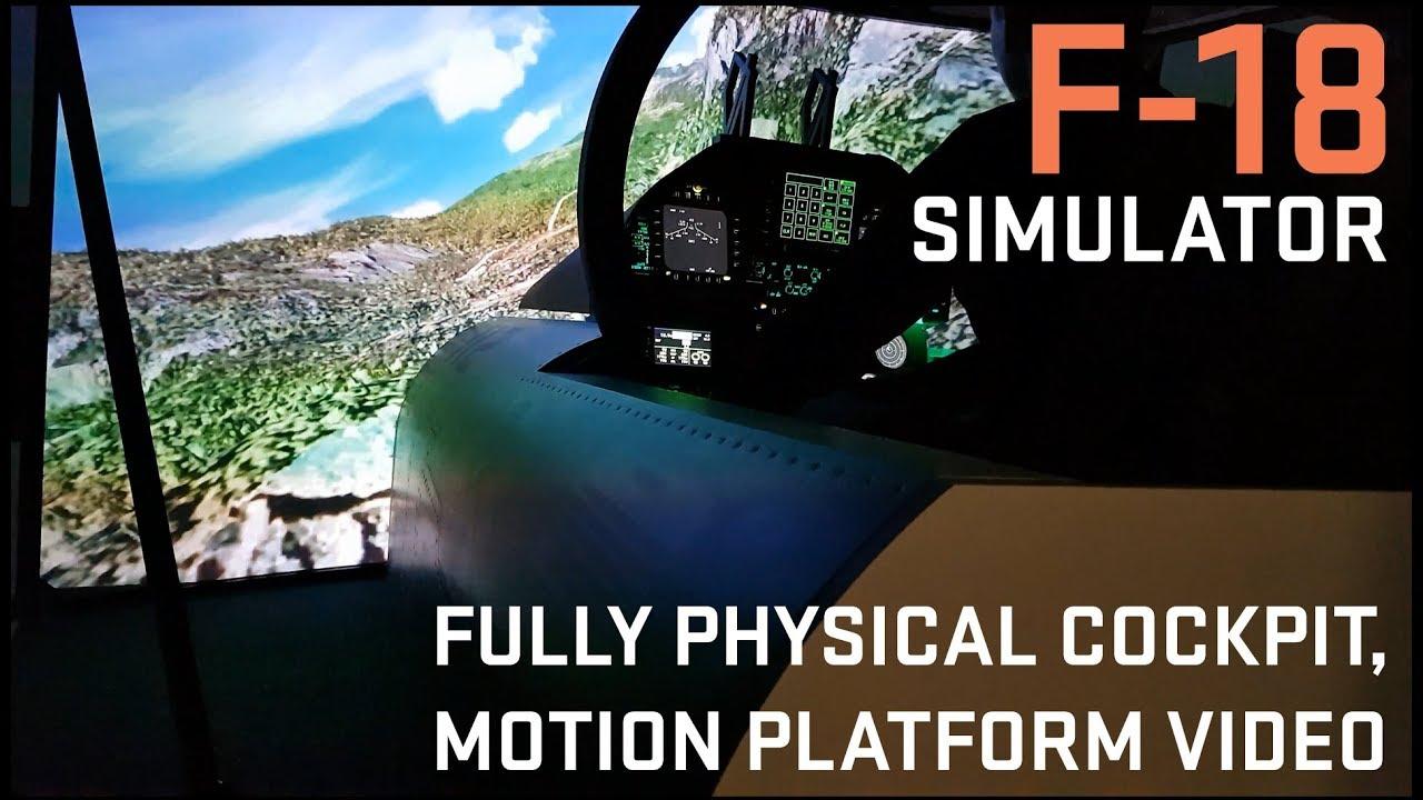 F-18 SIMULATOR FOR SALE  Fully physical cockpit + optional motion platform