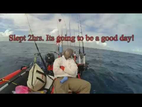 South Florida Kayak Fishing Offshore Dania Beach FL 11-4-2016 Slow Pitch/Vertical Jigging
