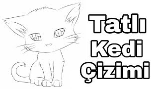 Tatlı kedi çizimi