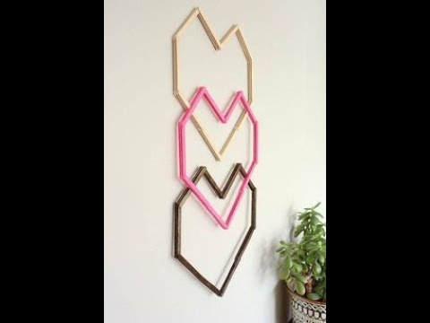 DIY ROOM decor |how to made a heart with wood