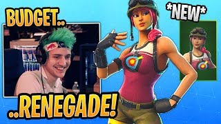 "Ninja LOVES the *NEW* ""Budget Renegade Raider"" Bullseye Skin! - Fortnite Best and Funny Moments"
