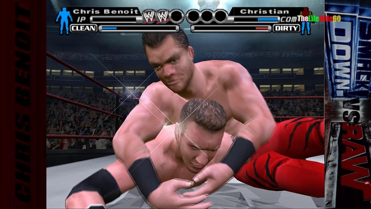 Download WWE SmackDown Vs Raw 2004 Season mode as Chris Benoit Road to WrestleMania & WrestleMania (Final)