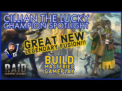 Raid Shadow Legends Cillian The Lucky Build and Guide   New Banner Lords Legendary Fusion!!!