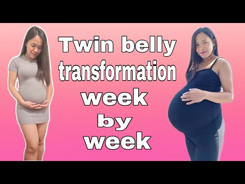 TWIN PREGNANCY TRANSFORMATION |Week by Week Pregnant Belly Progression| VLOG #3 |THE FILDUTCH TWINS