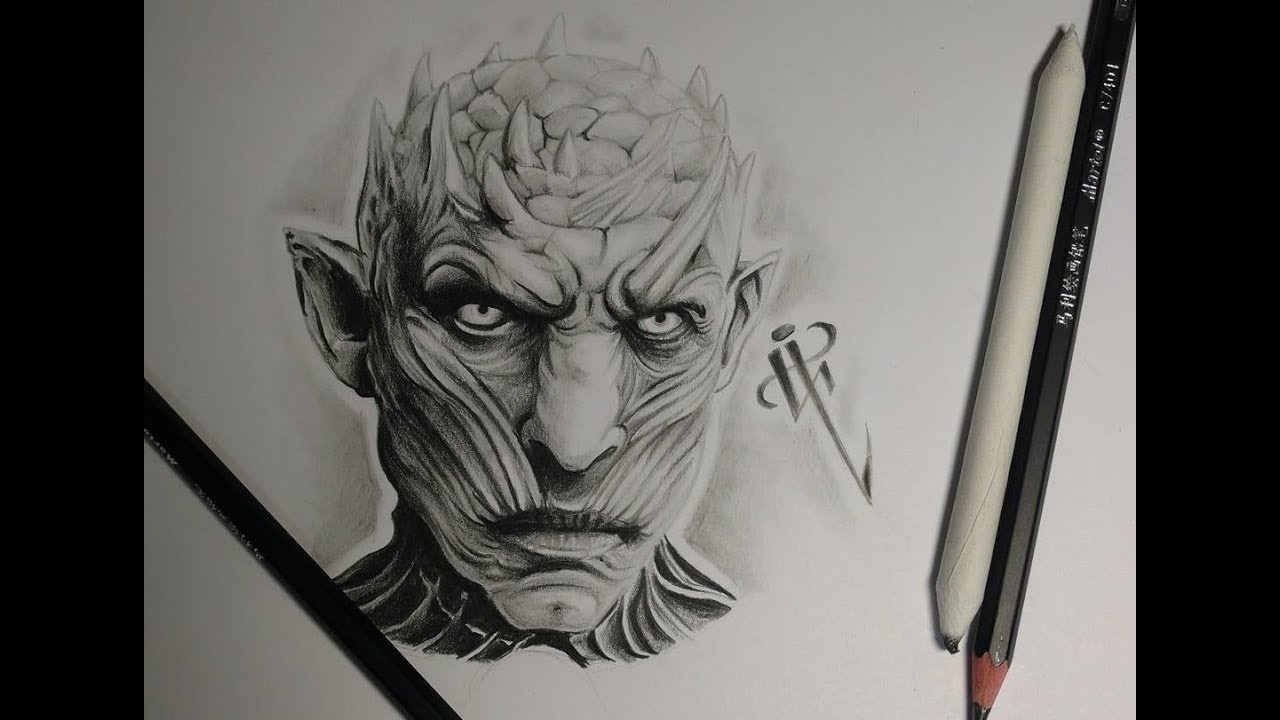 Night King Draw Timelapse Game Of Thrones Rey Nocturno Juego De