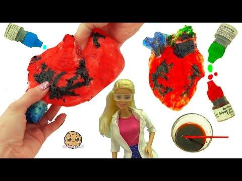 Fail - Squishy Human Heart Maker with Scientist Barbie Teacher & Student Monster High Dolls Video