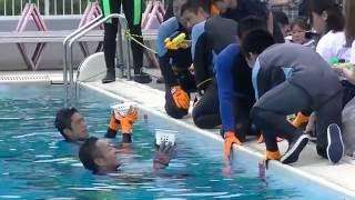 2016年第65回海上保安大学校海神祭潜水実演NO1