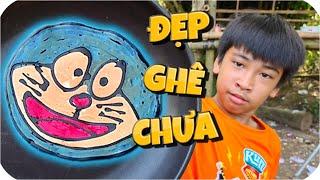 Tony | Thử Thách Làm Bánh Rán Doraemon - Vẽ Bánh Pancake