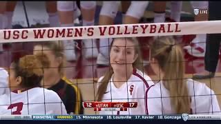 Women's Volleyball: USC 3, Utah 1 - Highlights 11/9/17