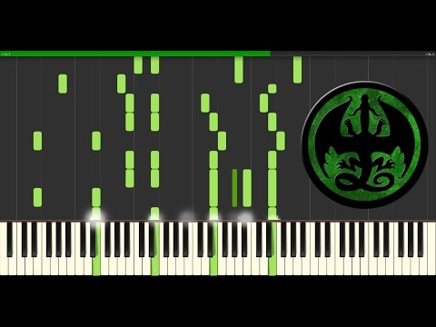 Wings of Fire Synthesia - The Jade Mountain Prophecy (piano tutorial)