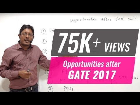 Opportunities after GATE 2017 result