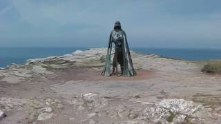 King Arthur statue at Tintagel (June 2017)