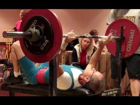 60-Year-Old Lifter at USPF Region 7 Powerlifting Meet, Tucson, Arizona  (Alwin Haas)