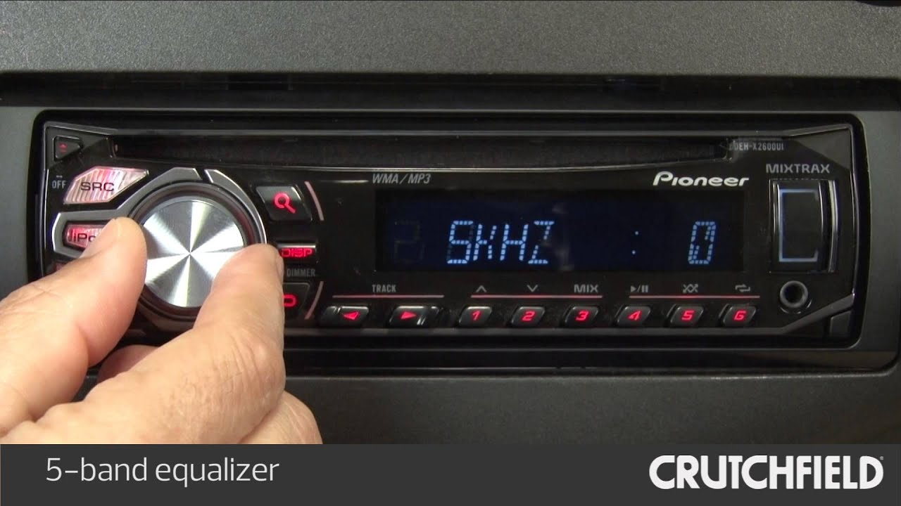 Pioneer Deh X Ui Car Stereo Display And Controls Demo