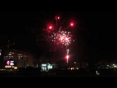 Finale of Fireworks at the Chickasaw Bricktown Ballpark in Oklahoma Ci