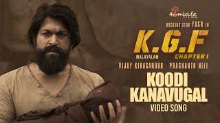 Koodi Kanavugal Full Video Song | KGF Malayalam Movie | Yash | Prashanth Neel | Hombale Films