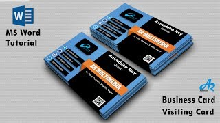 Gambar cover MS Word Tutorial: Create Business Card Template in MS Word 2019 OR Visiting Card {AR Multimedia}
