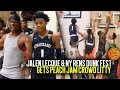 Jalen Lecque Puts On A SHOW at Nike Peach Jam!! Crazy In Game Windmill Gets Crowd LIT!!