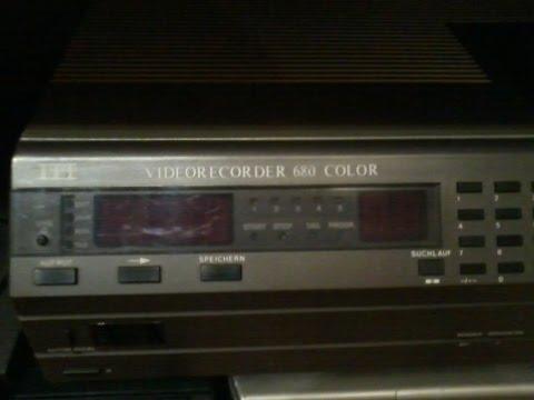 ITT - Video 2000 Videorecorder 680 Color in Betrieb