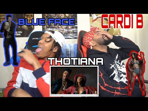 BUST IT DOWN CARDIANA 😍🙈Blueface - Thotiana Remix ft. Cardi B | FVO Reaction