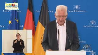 Ministerpräsident Kretschmann zum weiteren Vorgehen in der Pandemie