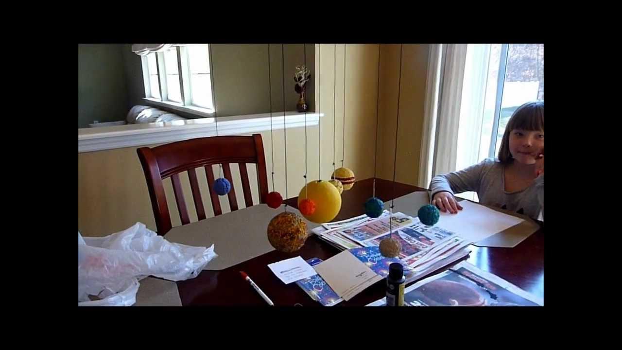 Homemade DIY School Project Solar System Model Display - YouTube