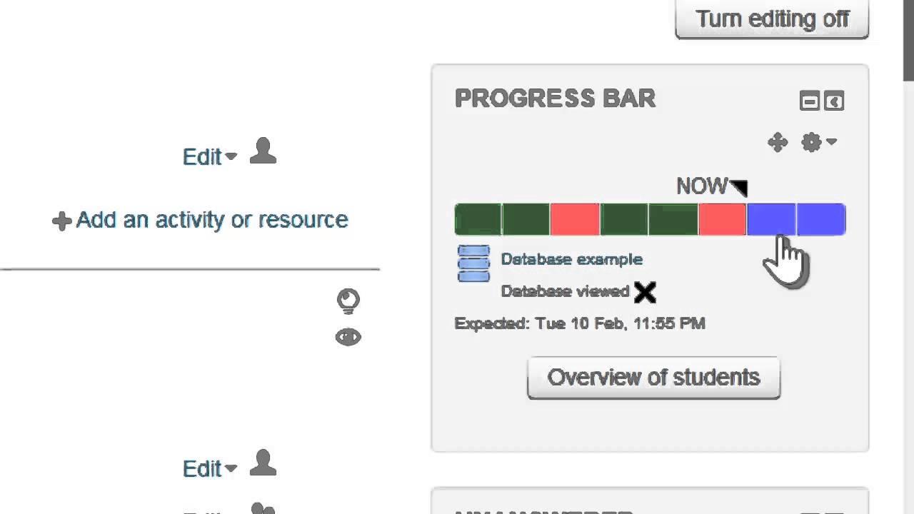 Progress Bar block - MoodleDocs