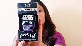 Wow Activated Charcoal Face Mask- Peel Off - No Parabens & Mineral Oils Honest Review and Demo