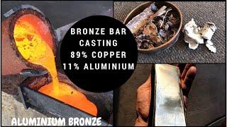 BIG BRONZE BAR MADE FROM SCRAP - Melting Copper & Aluminium together to make an Aluminium Bronze Bar