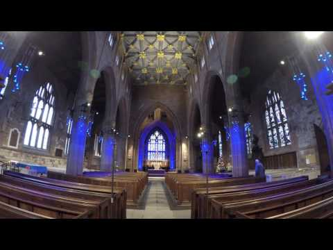 Lighting installation at Rotherham Minster