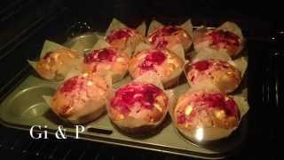 Vlog | Raspberry & White Chocolate Muffins Time-lapse