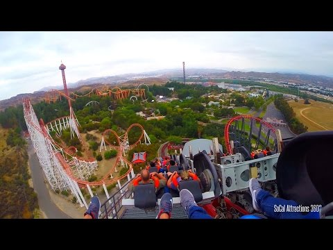 X2 (HD POV) - 4th Dimension Roller Coaster - Six Flags Magic Mountain
